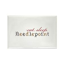 Eat,Sleep,Needlepoint Magnets