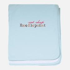 Eat,Sleep,Needlepoint baby blanket