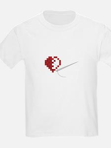 Needlepoint Heart T-Shirt