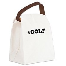 Golf Hashtag Canvas Lunch Bag