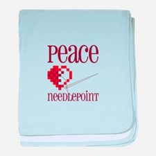 Peace Needlepoint baby blanket