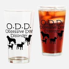 Obsessive Dog Disorder Drinking Glass