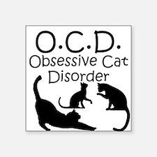 Obsessive Cat Disorder Sticker