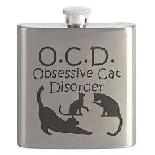 Obsessive Cat Disorder Flask