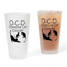 Obsessive Cat Disorder Drinking Glass
