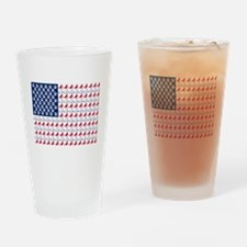 Cat Flag Drinking Glass