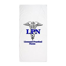 lpn b.psd Beach Towel