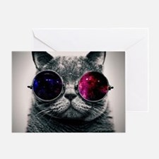 Cool Cat-Galaxy Greeting Card