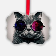 Cool Cat-Galaxy Ornament