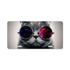 Cool Cat-Galaxy Aluminum License Plate