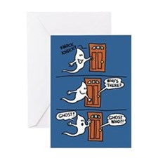 Knock Ghost Clear Card Greeting Cards