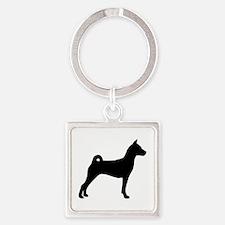 Basenji Dog Square Keychain