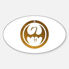 Marvel Ironfist Logo Sticker (Oval)