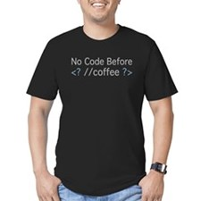 No Code Before Coffee T