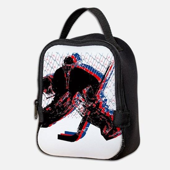 Hockey Goaler Neoprene Lunch Bag