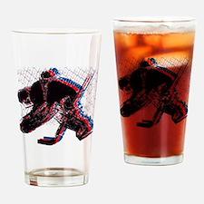 Hockey Goaler Drinking Glass