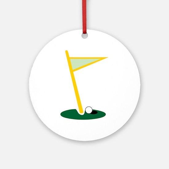 Golf Hole Ornament (Round)