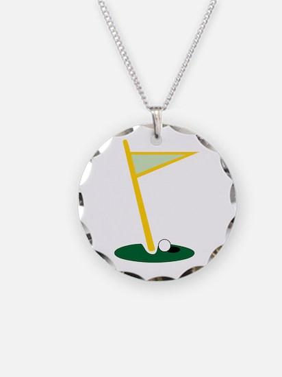 Golf Hole Necklace