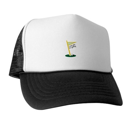 I Would Rather Be Golfing Trucker Hat