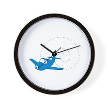 Airplane Loop Wall Clock