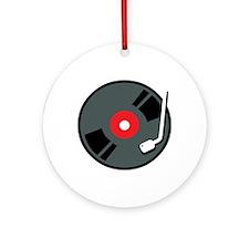 Record Player Ornament (Round)