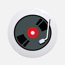 Record Player Ornament (Round)
