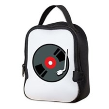 Record Player Neoprene Lunch Bag