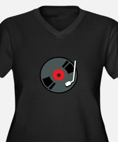 Record Player Plus Size T-Shirt