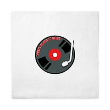 Vinyl Plays It Best Queen Duvet