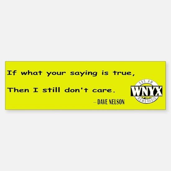WNYX NewsRadio - I Don't Care