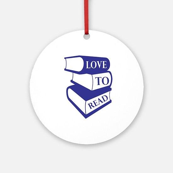 Love To Read Ornament (Round)
