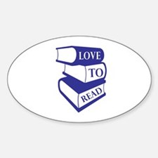Love To Read Decal