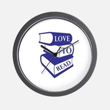 Love To Read Wall Clock