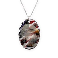 American Eagle Flag Necklace
