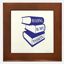 Reading Is My Passion Framed Tile