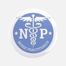 "Caduceus NP (rd) 3.5"" Button"