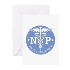 Caduceus NP (rd) Greeting Cards