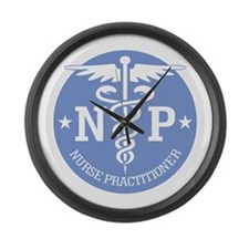 Caduceus NP (rd) Large Wall Clock