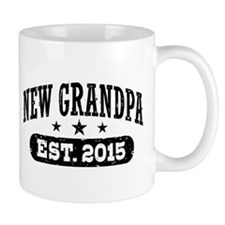 New Grandpa Est. 2015 Small Mug