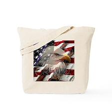 American Eagle Flag Tote Bag