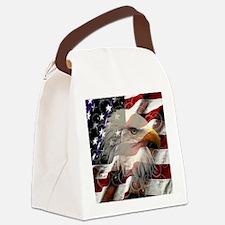 American Eagle Flag Canvas Lunch Bag