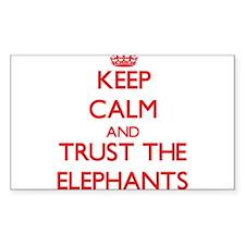 Keep calm and Trust the Elephants Decal