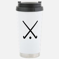 Crossed Field hockey cl Stainless Steel Travel Mug