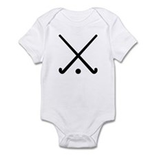 Crossed Field hockey clubs Infant Bodysuit