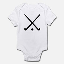 Crossed Field hockey clubs Infant Bodysuit