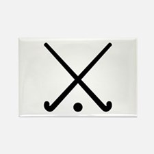 Crossed Field hockey clubs Rectangle Magnet