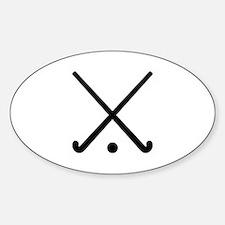 Crossed Field hockey clubs Sticker (Oval)