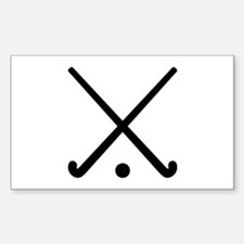 Crossed Field hockey clu Decal