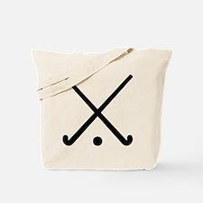 Crossed Field hockey clubs Tote Bag