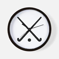 Crossed Field hockey clubs Wall Clock